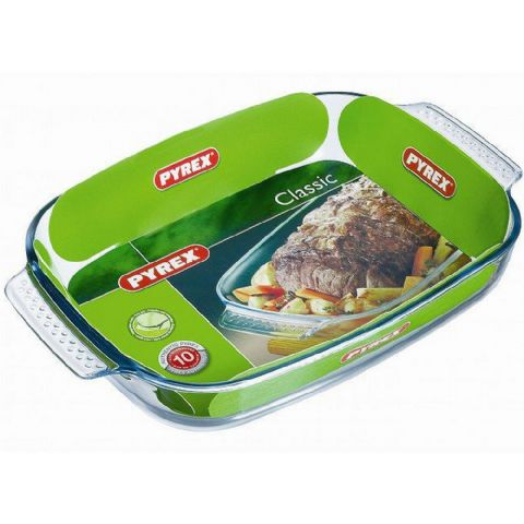 Pyrex Classic Rectangle Meat Roaster Dish 39 x 25cm